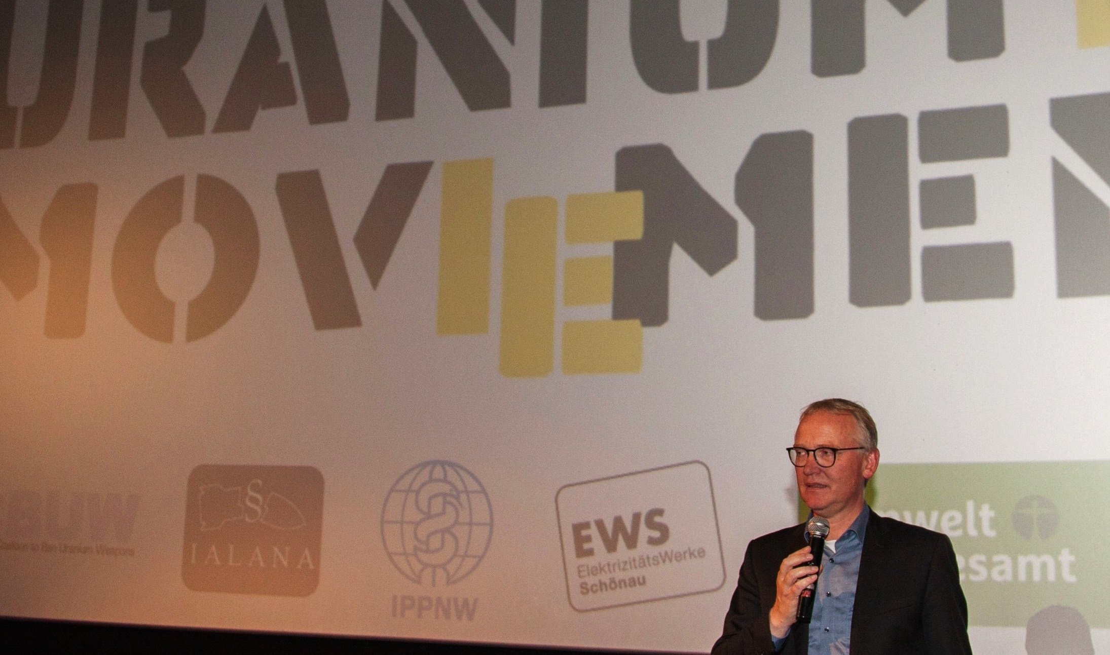 Klaus Mindrup (MdB) beim Uranium Film Festival in Berlin