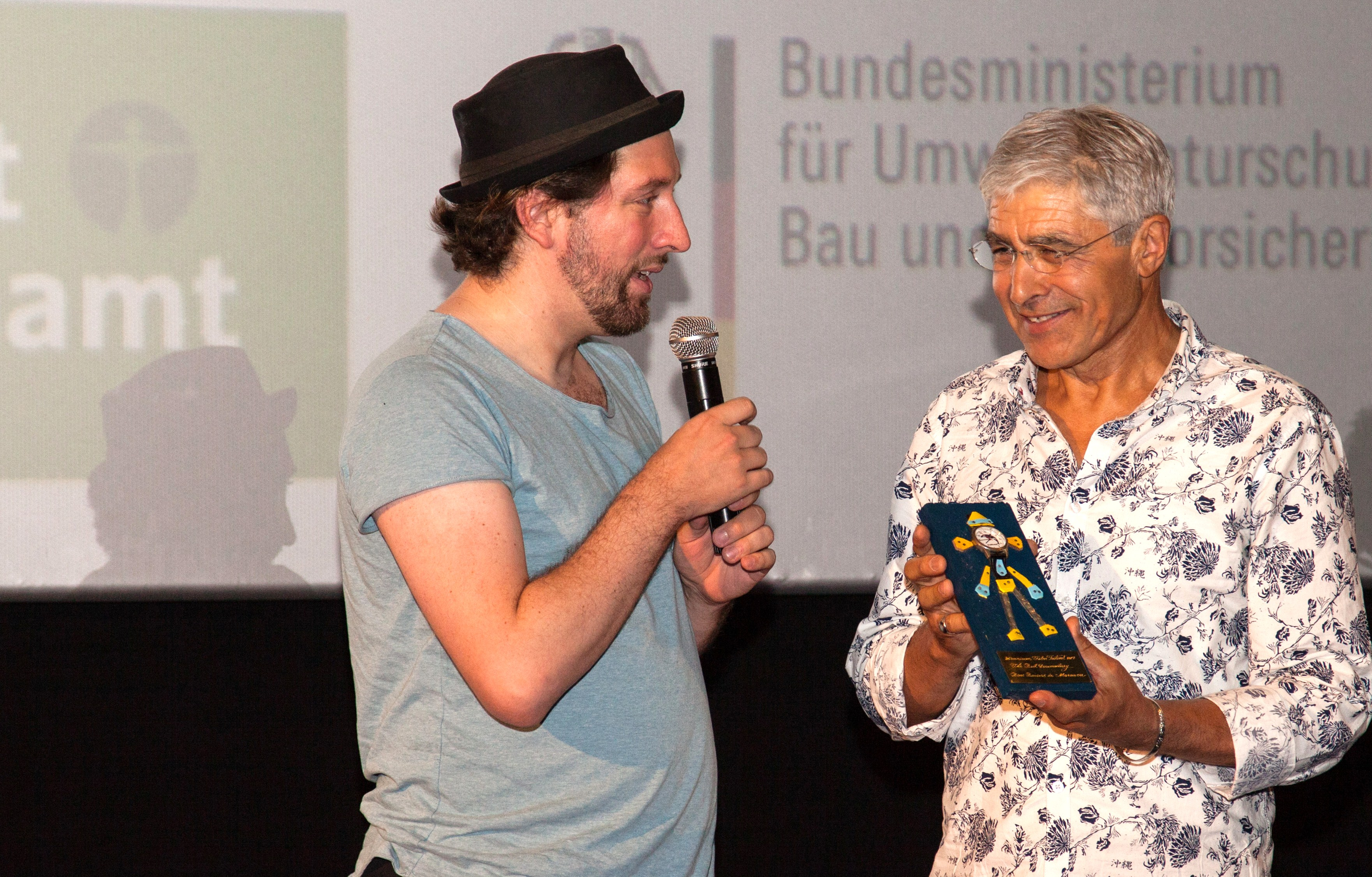 André Schneider and Larbi Benchiha at Uranium Film Festival Berlin