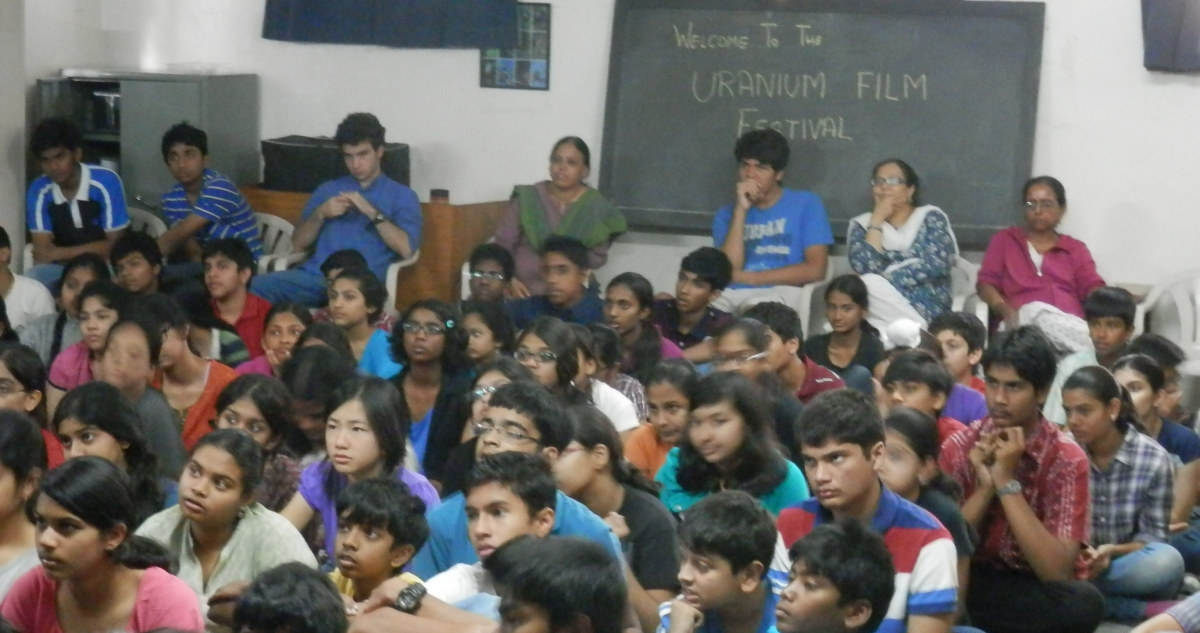 Hyderabad Vidyaranya School 2013 - Uranium Film Festival Screening