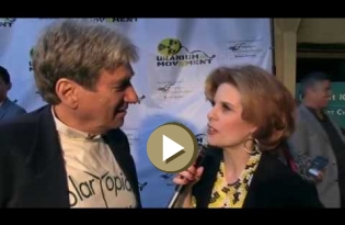 Kat Kramer interviews Harvey Wasserman at Uranium Film Festival in Hollywood 2016