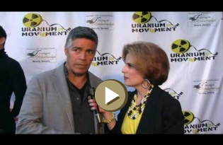 Esai Morales with Kat Kramer about Uranium Film Festival in Hollywood 2016